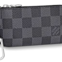 Louis Vuitton Pochette Cle Key Pouch Damier Graphite Black/Gray  in Coated Canvas with Silver-ton...   StockX