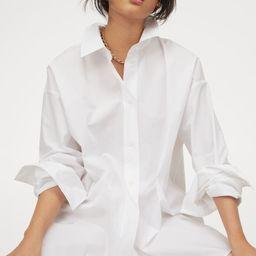 Cotton poplin shirt | H&M (UK, IE, MY, IN, SG, PH, TW, HK, KR)