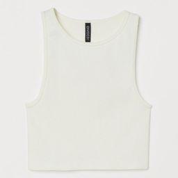 Ribbed vest top | H&M (UK, IE, MY, IN, SG, PH, TW, HK, KR)