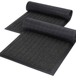 Lifewit 2 Pack Indoor Mat Door Mat Heavy Duty Non Slip Rubber Backing Doormat Entrance Low-Profil... | Amazon (US)