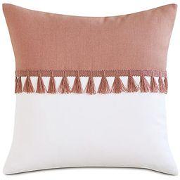 Mila Outdoor Pillow, Melon/White | One Kings Lane
