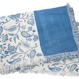 Catia Cotton Throw, Blue | One Kings Lane