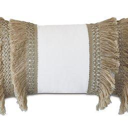 Callie Lumbar Pillow, White/Natural | One Kings Lane