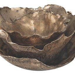 Asst. of 3 Fleur Bowls, Antiqued Gold | One Kings Lane