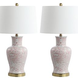 S/2 Babette Table Lamps, Pink/White | One Kings Lane