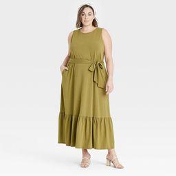 Women's Sleeveless Ruffle Hem Dress - A New Day™ | Target