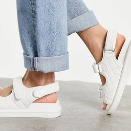 RAID Wide Fit Amylia chunky grandad sandals in off white quilt | ASOS (Global)