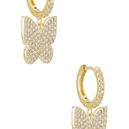 Adina's Jewels Pave Large Butterfly Huggie Earring in Gold from Revolve.com | Revolve Clothing (Global)