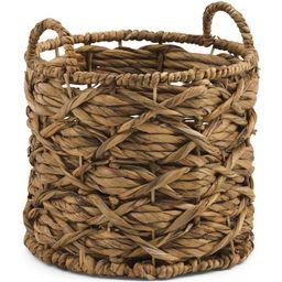 Xs Water Hyacinth Round Basket   TJ Maxx