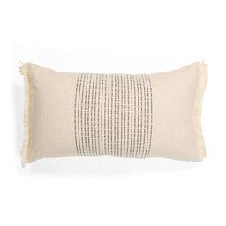 14x2 Slub With Stripes Pillow   TJ Maxx