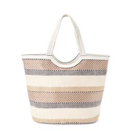 Time and Tru Extra Large Woven Straw Beach Travel Tote Bag | Walmart (US)