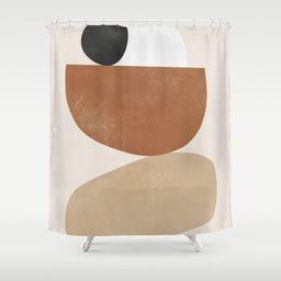 Minimal Abstract Art 41 Shower Curtain | Society6
