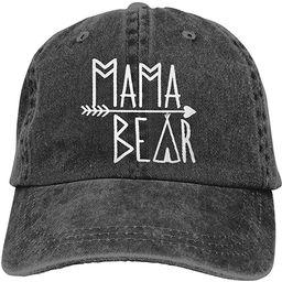 OASCUVER Mama Bear Denim Hat Adjustable Female Stretch Baseball Hats | Amazon (US)