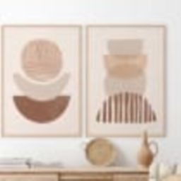 Boho Art Set of 2 Prints, Boho Wall Art, Abstract Gallery Wall Set, Printable Modern Art Poster B...   Etsy (US)