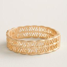 Goldtone Hinged Cuff Bracelet   Chico's