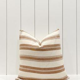 Brown rust designer stripe pillow cover   Etsy   Etsy (US)