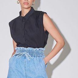 Paperbag Denim Shorts | Forever 21 (US)