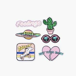 Feelings Graphic Embroidered Iron-On Patch Set | Forever 21 (US)