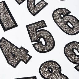 Iron-On Glitter Number Patch | Forever 21 (US)