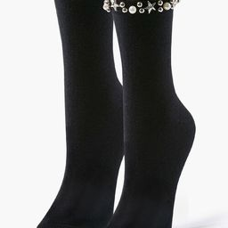 Faux Pearl Embellished Crew Socks | Forever 21 (US)