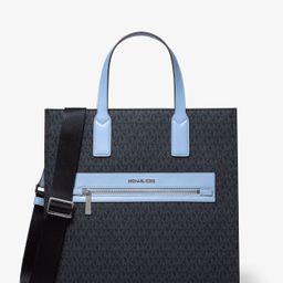 Kenly Large Signature Logo Tape Tote Bag   Michael Kors (US & CA)