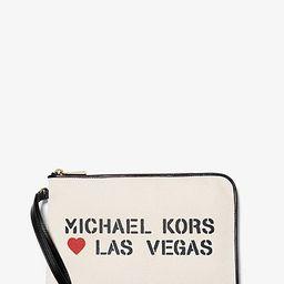 The Michael Medium Canvas Las Vegas Pouch   Michael Kors (US & CA)