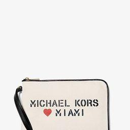 The Michael Medium Canvas Miami Pouch   Michael Kors (US & CA)