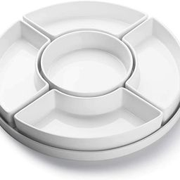 Sweese 707.001 Porcelain Divided Serving Dishes, Relish Tray, Serving Bowls for Parties - Perfect... | Amazon (US)