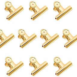 Gold Bulldog Binder Clips, Coideal 10 Pack 2 Inch Stainless Steel Large Metal Hinge Paper Clips C... | Amazon (US)