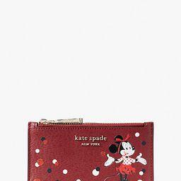 disney x kate spade new york minnie mouse small slim bifold wallet | Kate Spade (US)