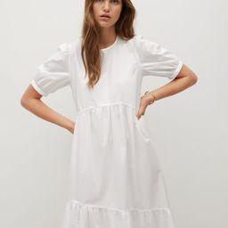 Frill cotton dress | MANGO (UK)