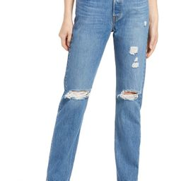 501® Ripped Straight Leg Jeans | Nordstrom