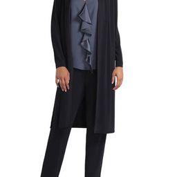 Long Sleeve Pleated Neck Cardigan | Nordstrom Rack