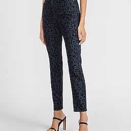 High Waisted Textured Leopard Print Skinny Jeans   Express