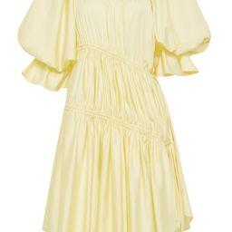 Ambience Tie-Detailed Cotton Asymmetric Mini Dress   Moda Operandi (Global)