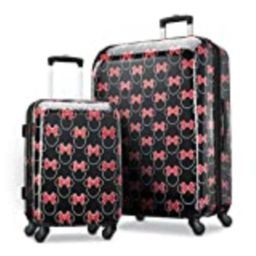 American Tourister Disney Hardside Luggage with Spinner Wheels, Minnie Mouse Head Bow, 2-Piece Set ( | Amazon (US)