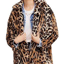Free People Kate Faux-Fur Leopard Coat | Bloomingdale's (US)