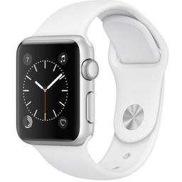Apple Watch Series 1 38mm Silver-Tone Aluminum Case with White Sport Band   Macys (US)