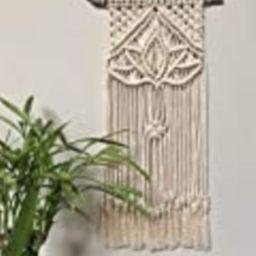 Macrame lotus flower wall hanging/boho decor/house warming gift/wall hanging   Amazon (US)