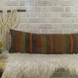 Pastel color kilim pillow, kilim cushion cover, boho decor pillow, handmade pillow, 12x36 inches pil   Amazon (US)