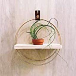 Fünfte. Handmade plant hanger, wooden wall planter, air plant, terracotta, wall shelf, plant decor,    Amazon (US)