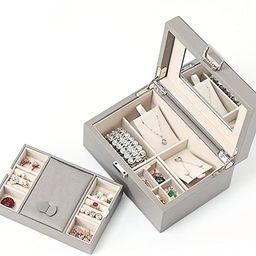 Vlando Wooden Jewelry Box, Jewelry Organizer and Storage- Grey   Amazon (US)