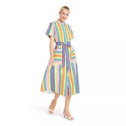 Striped Short Sleeve Shirtdress - Christopher John Rogers for Target | Target