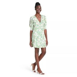 Floral Puff Sleeve Swing Dress - RIXO for Target Cream/Green | Target
