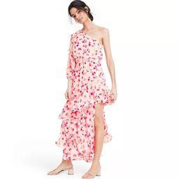 Floral One Shoulder Ruffle Dress - ALEXIS for Target Pink | Target