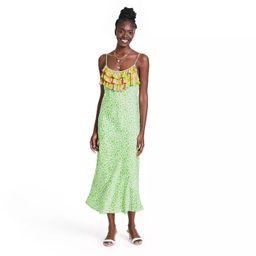 Leopard Sleeveless Ruffle Slip Dress - RIXO for Target Green | Target