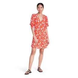 Floral Puff Sleeve Swing Dress - RIXO for Target Red | Target
