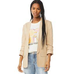 Scoop Women's Boyfriend Blazer with Scrunch Sleeves   Walmart (US)