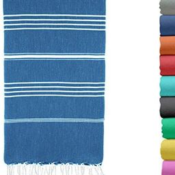 Turkish Beach Towel 37 by 70 Inches Made of 100% Cotton, Ultra Soft and Absorbent, Quick Drying P... | Amazon (US)