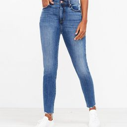 The Fresh Cut High Waist Skinny Ankle Jean in Authentic Mid Vintage Wash   LOFT